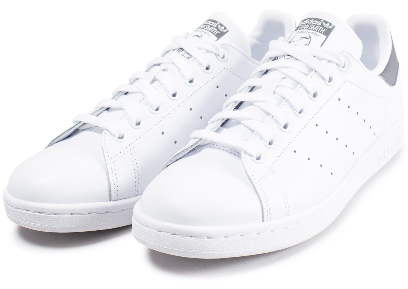 pretty nice c4bd6 8384b ... czech cliquez pour zoomer chaussures adidas stan smith blanc vert vue  f7454 def45